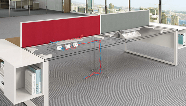 Avail Smart Wiring Bench Office Workstation Table