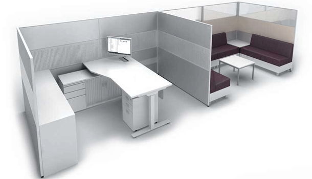Avail 30 Plus 50 Office Workstation Table