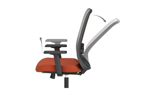 Extra wide comfort ergonomic chairs